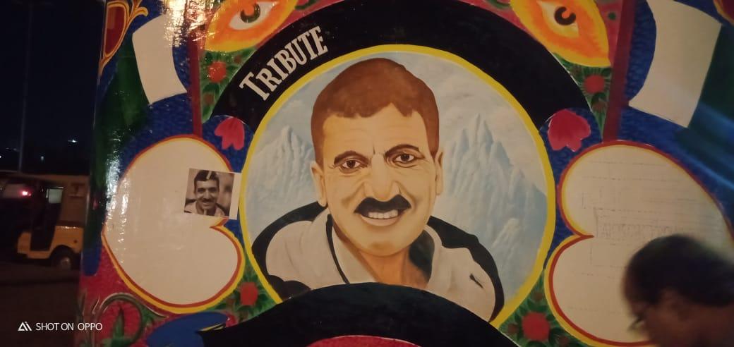 Ali Sadpara's portrait Karachi
