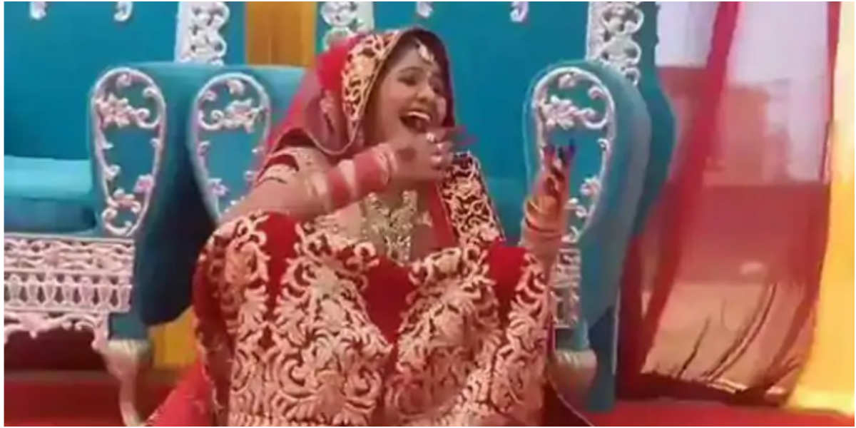 Bride laughing video