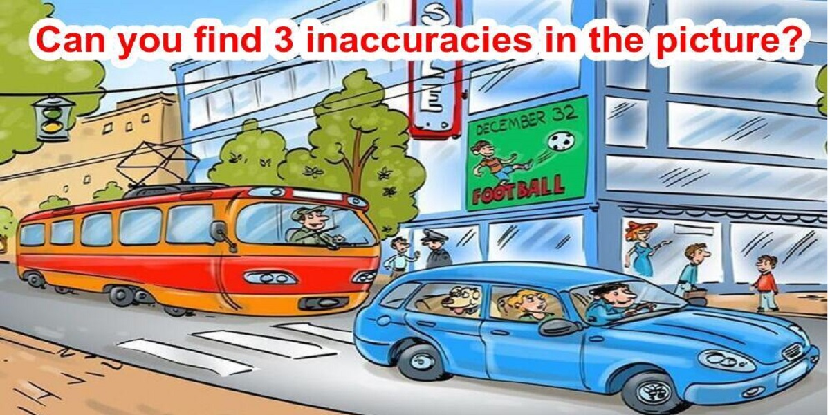 Can you find 3 inaccuracies in this picture?