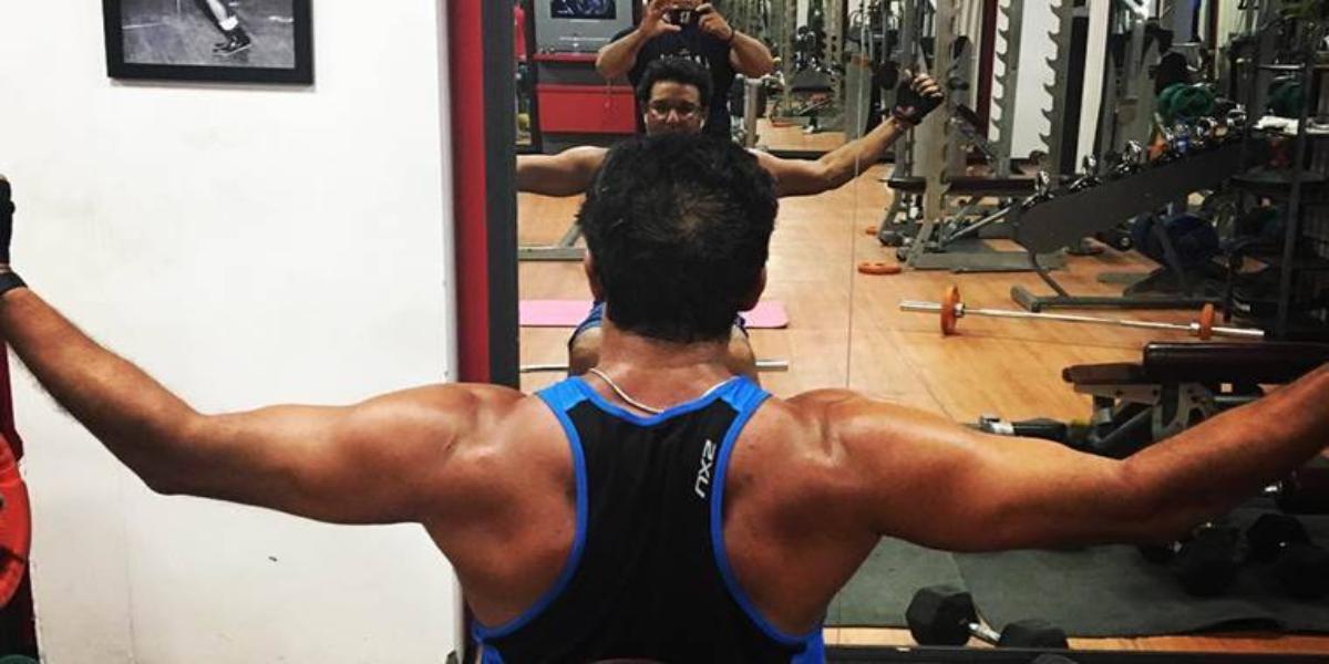 Wasim Akram gym