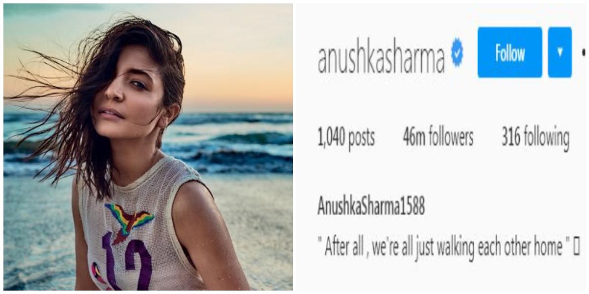 Anushka Sharma instagram followers