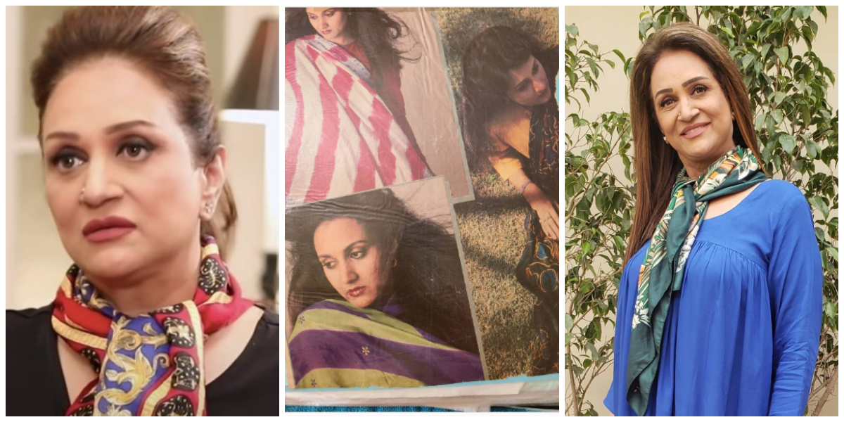 Bushra Ansari's silk scarves