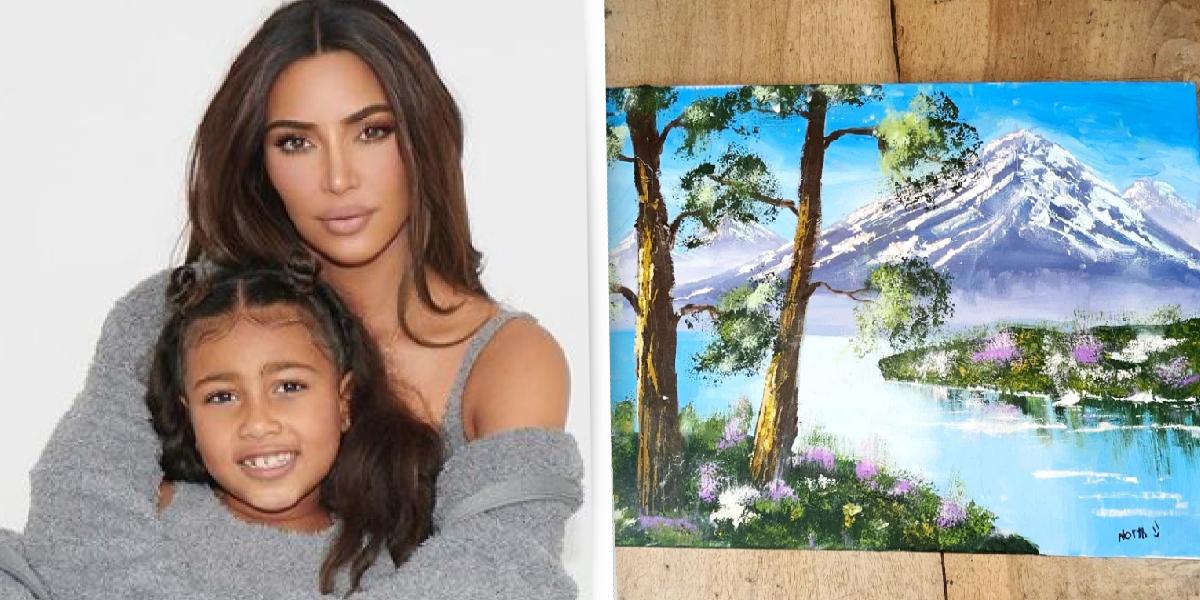 Kim Kardashian daughter's painting