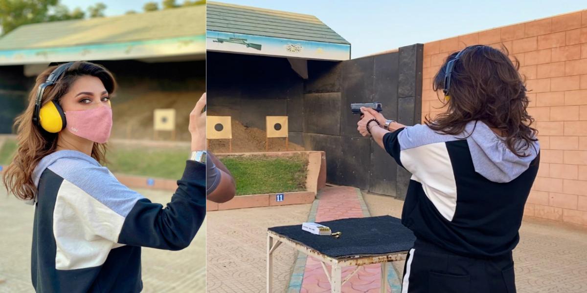 Mehwish Hayat gun lessons