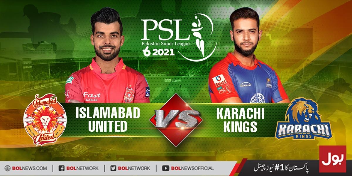 Karachi kings Vs Islamabad United Live Streaming