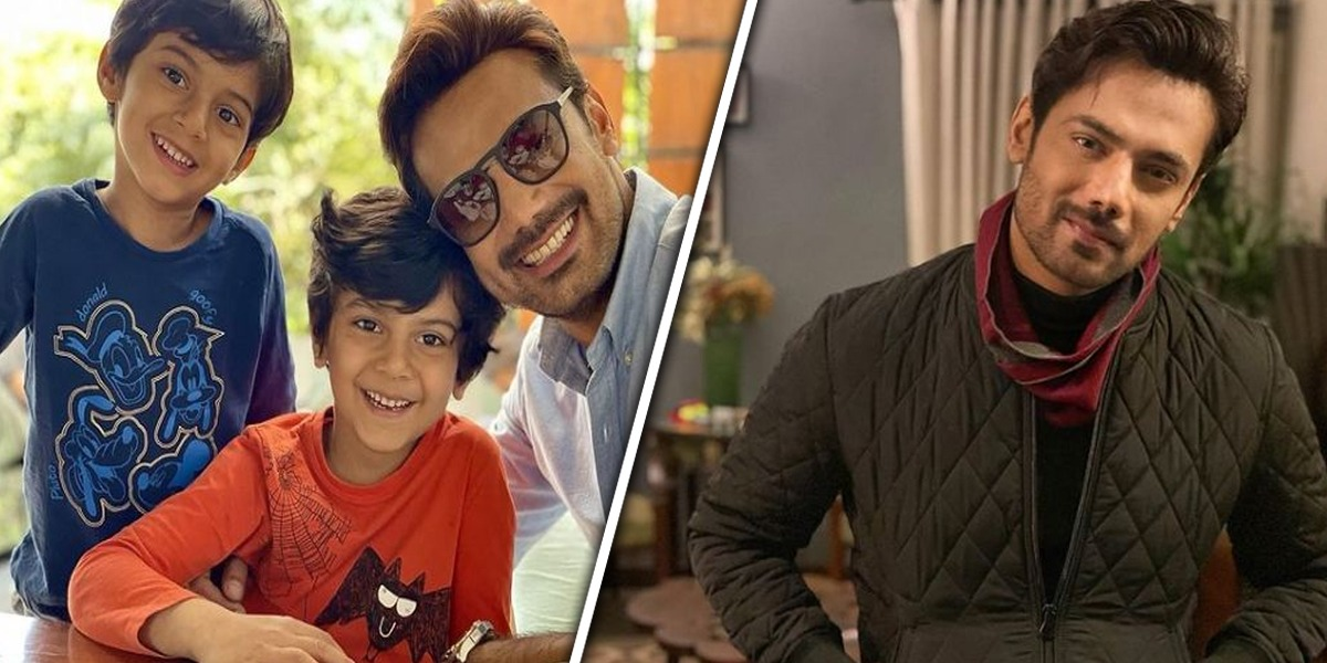Zahid Ahmed with sons
