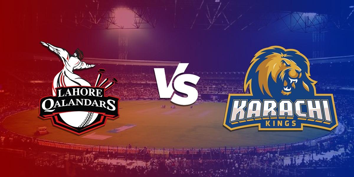 PSL 2021 Karachi Kings Lahore Qalandars