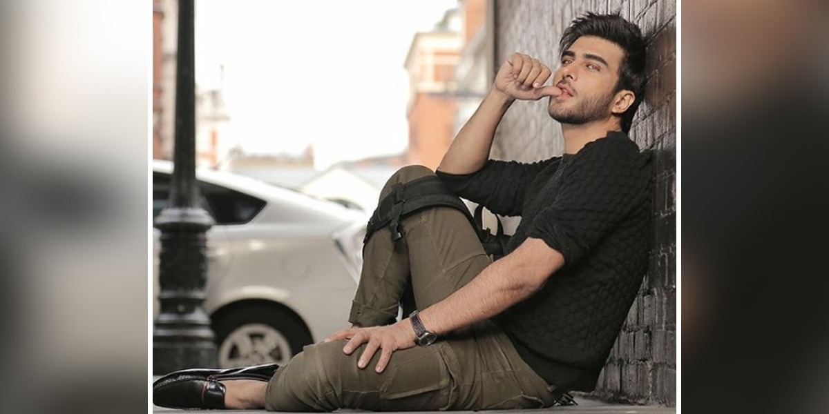 Imran Abbas happily Poses With 'Poser' Dog