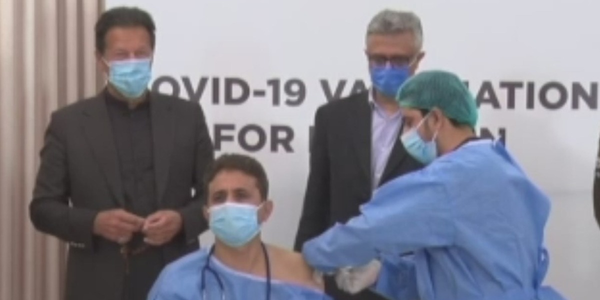 PM Imran Khan Formally Launches COVID Vaccination In Pakistan