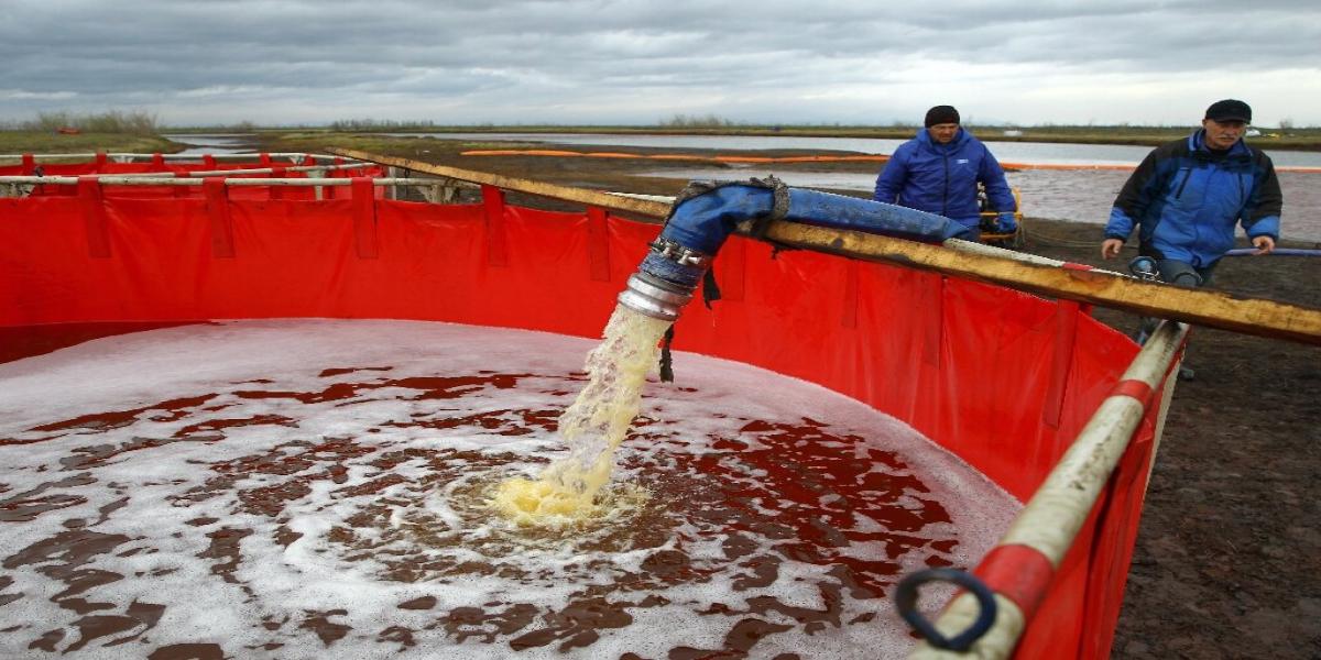 Arctic diesel spill