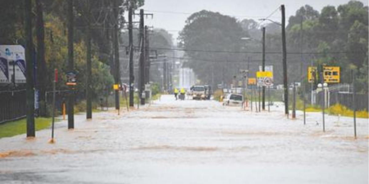 Heavy rain in Australia