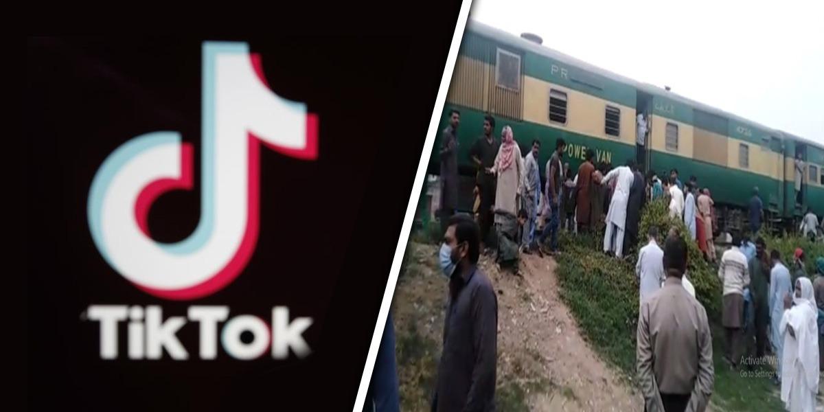 TikTok train track stunt