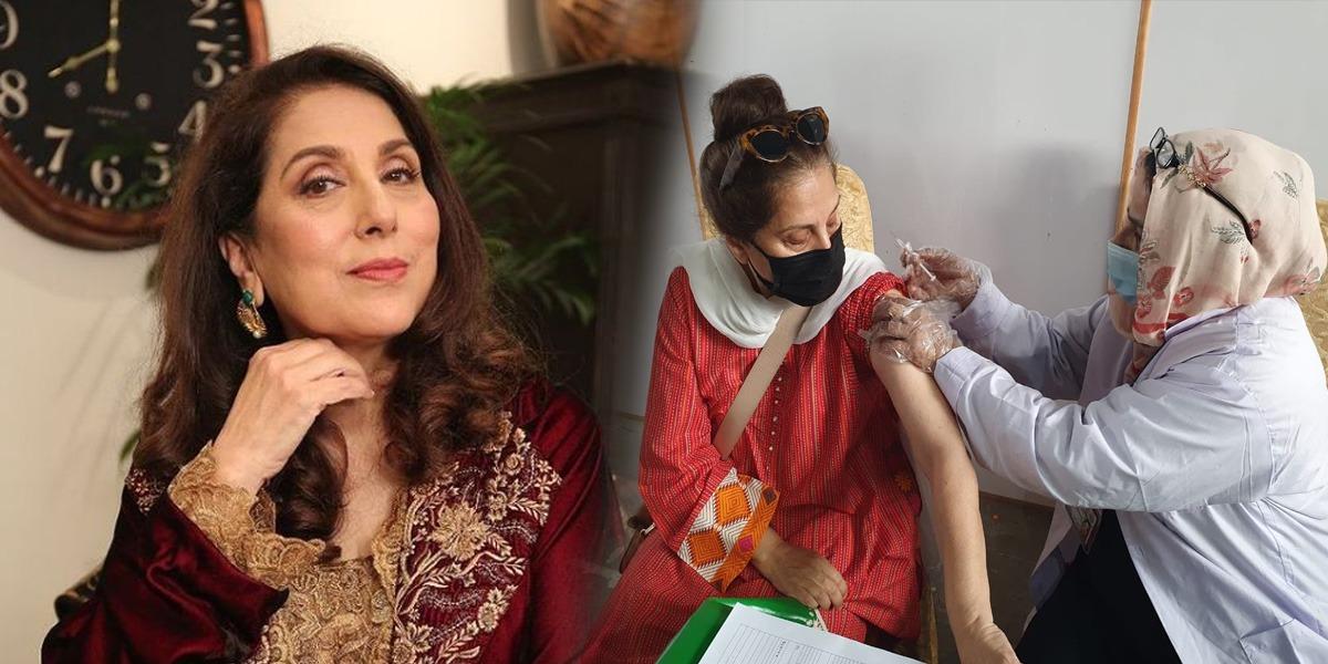 Samina Peerzada vaccine jab