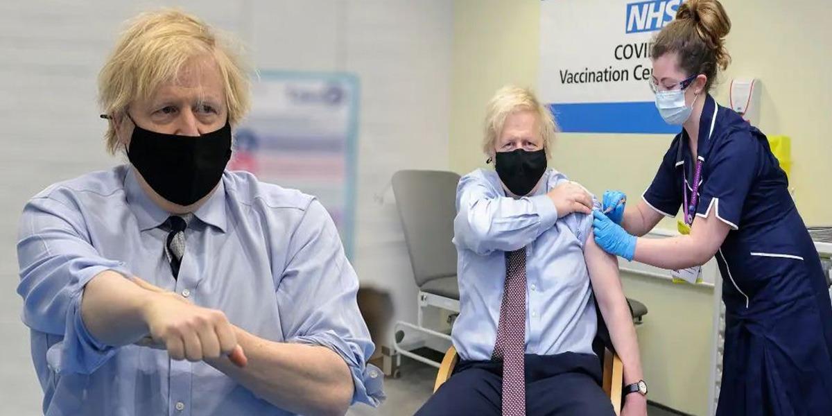 Boris Johnson receives vaccine shot