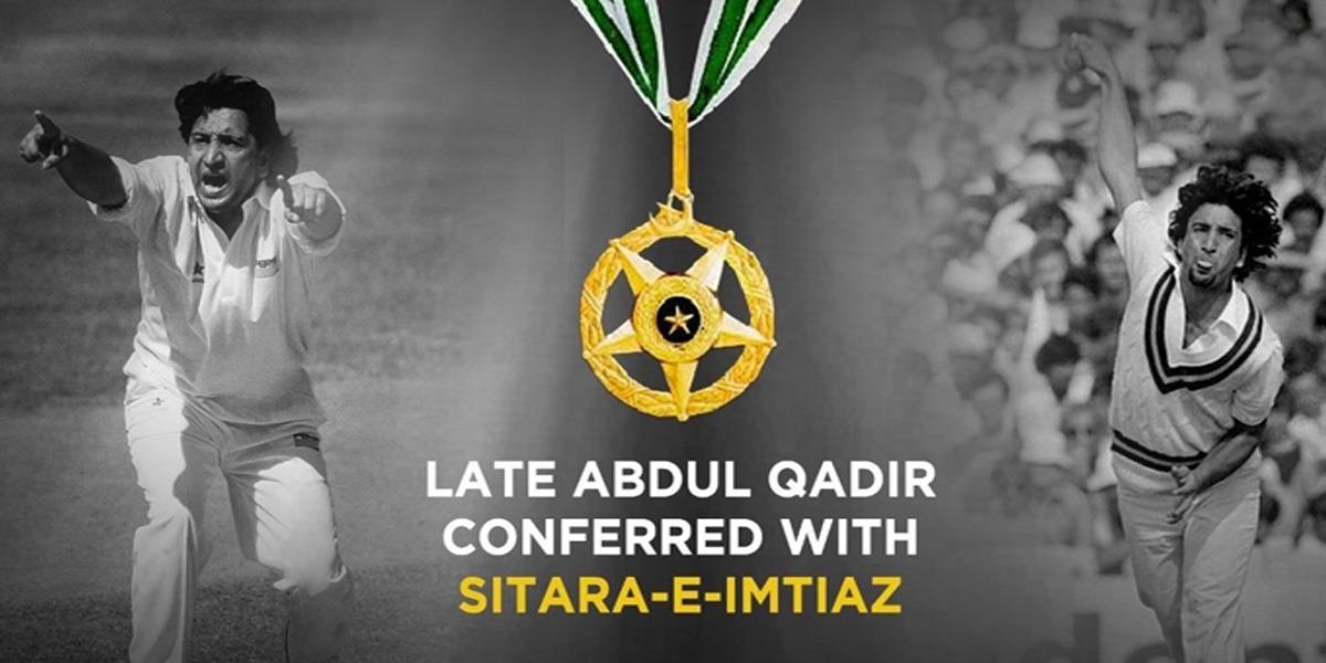 Late Cricket Legend Abdul Qadir Bestowed With Honourable Sitar-e-Imtiaz
