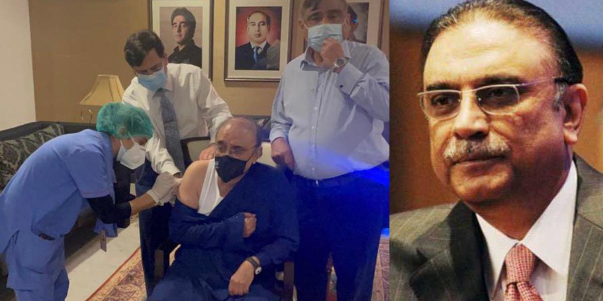 Asif Zardari receives COVID-19 jab