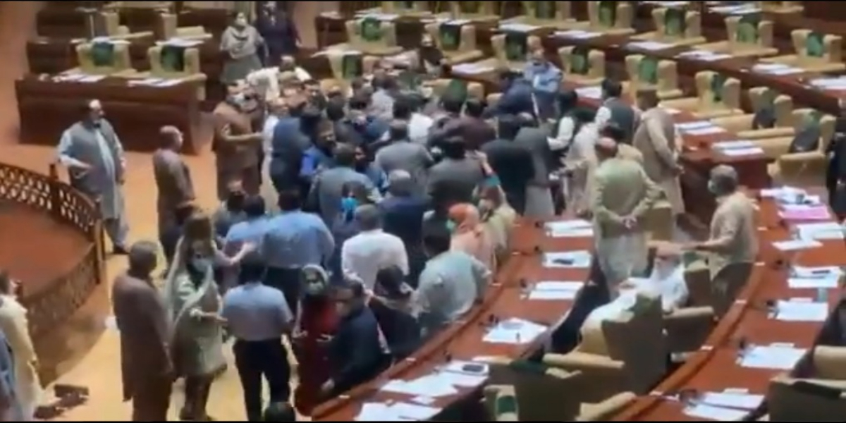 Senate Elections: PTI Lawmakers Beat Up Rebel Members In Sindh Assembly