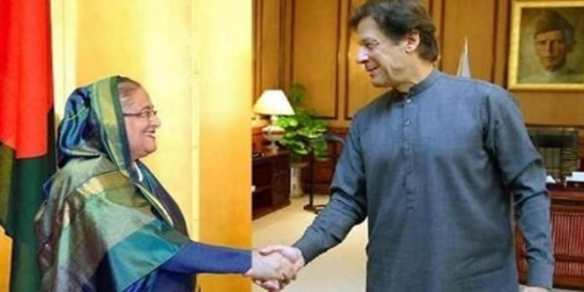 PM Imran Congratulates Hasina Wajid On Bangladesh's 50th Anniversary