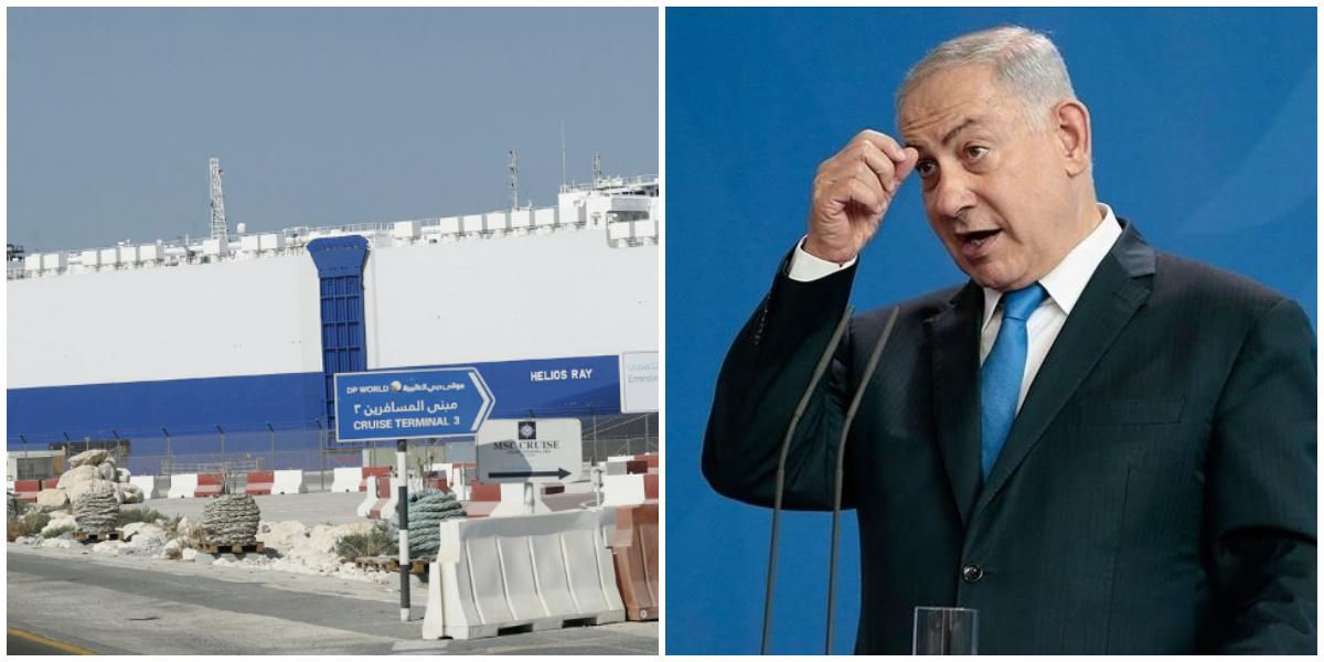 Israeli PM Accuses Iran Of Targeting Israeli Ship, Tehran Denies