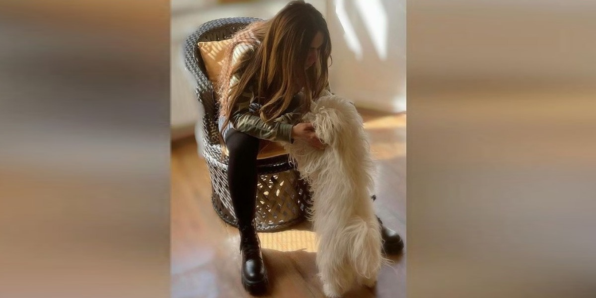 Ayyan Ali Shares A Passionate Lip-Lock With Her Pet Dog