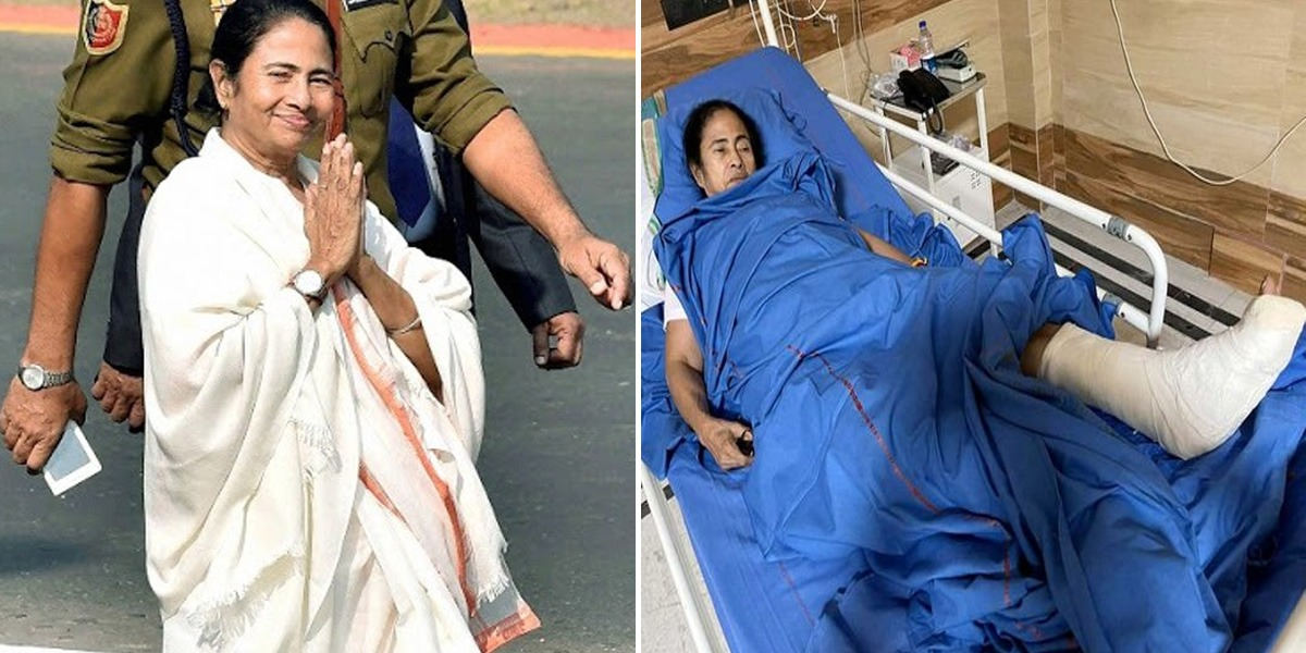 India: West Bengal CM Mamata Banerjee Sustains Severe Injuries, Police File Case