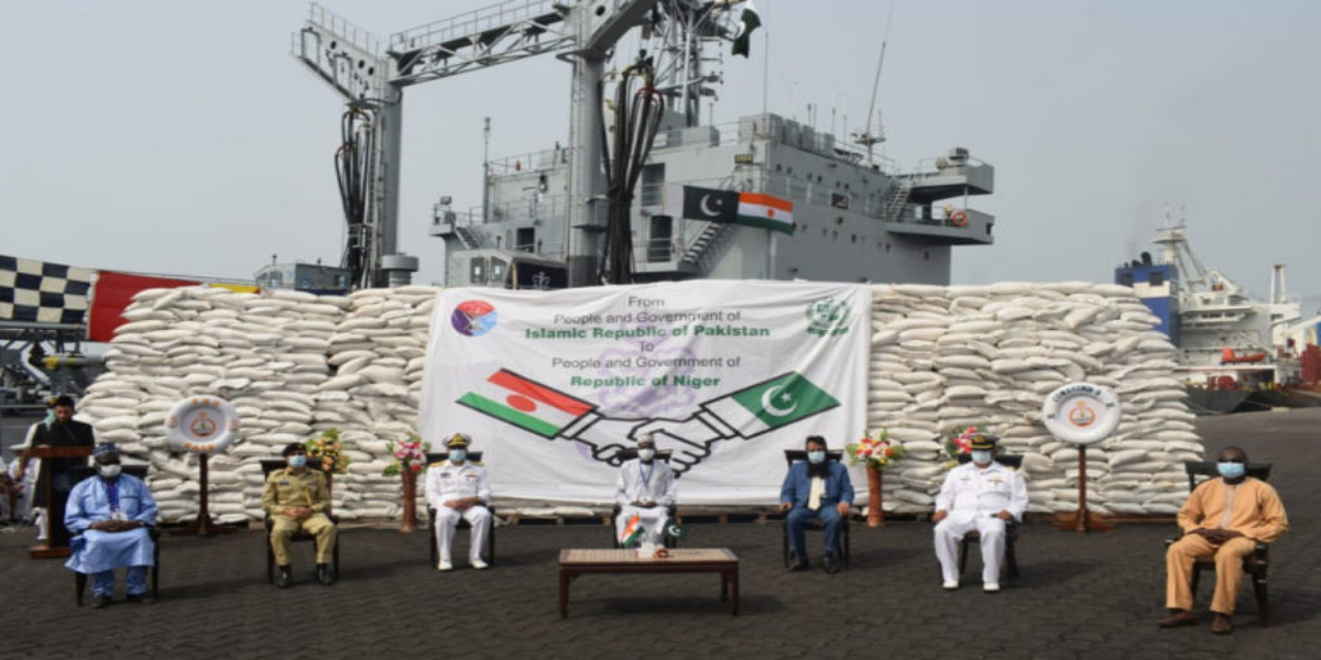 PNS NASR Sails Off To Africa On Humanitarian Mission