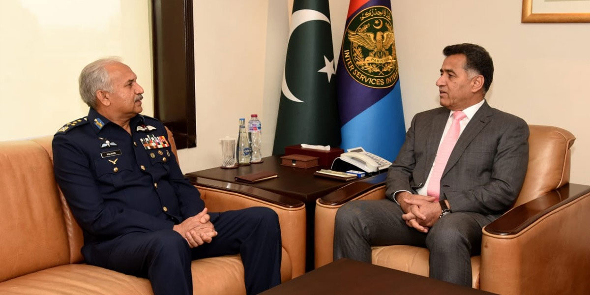 DG ISI Hails Air Chief Mujahid Anwar For His Outstanding Career