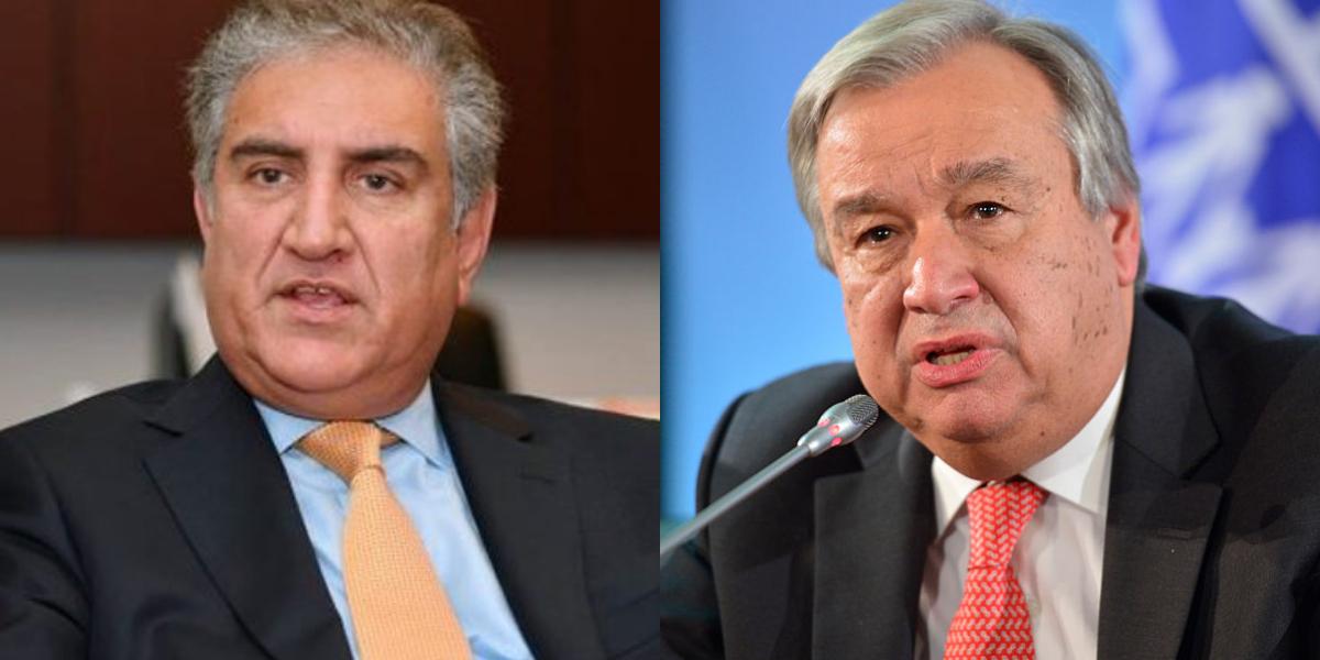FM Qureshi Calls UN Chief
