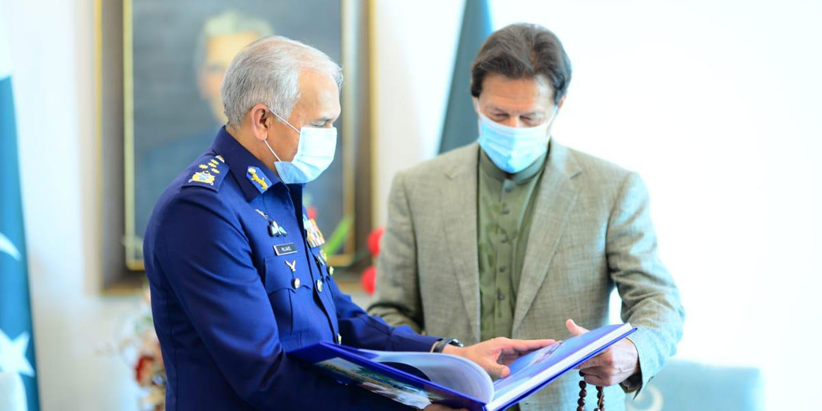 PM Imran Commends Services Of Air Chief During His Illustrious Career