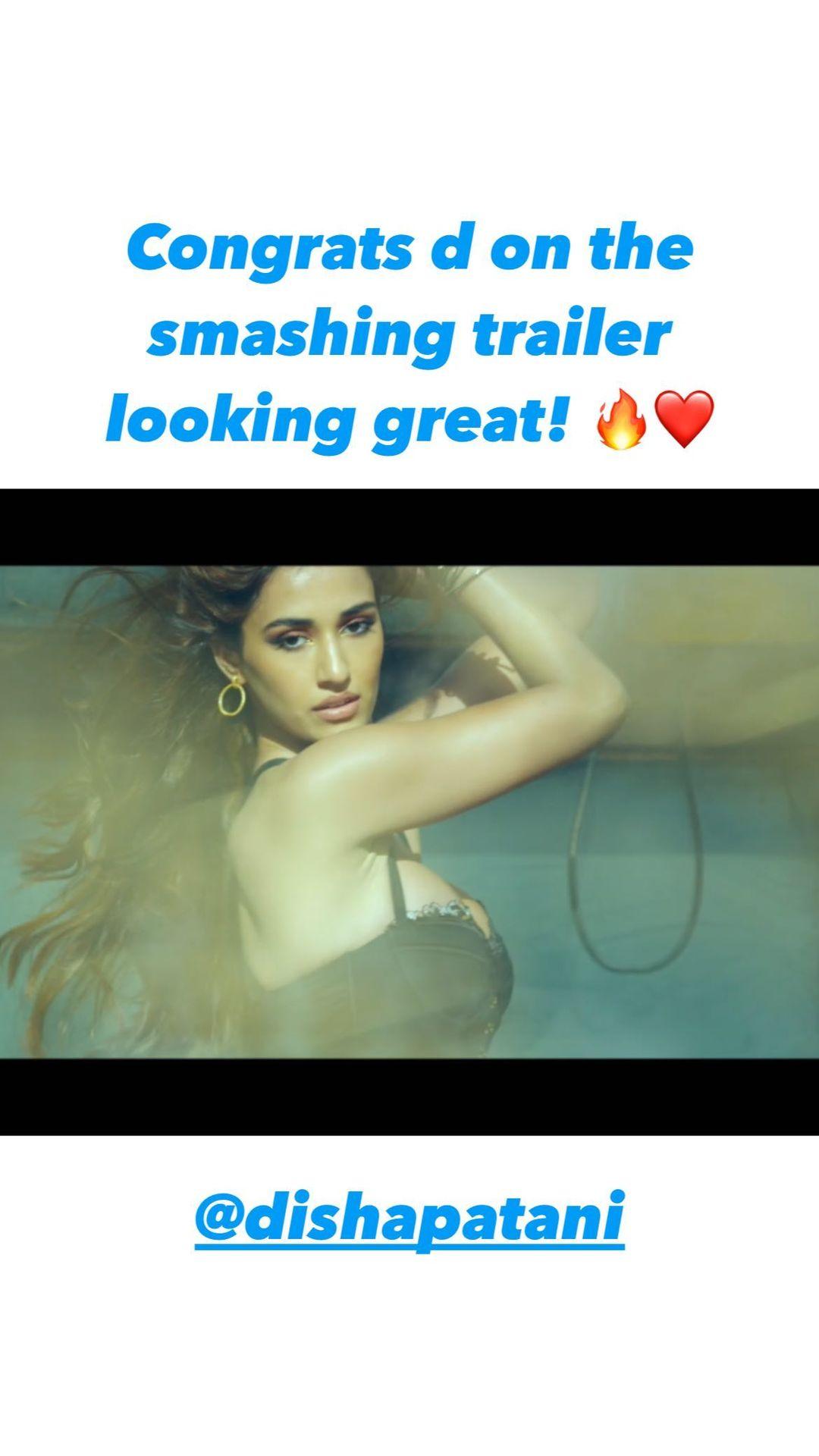 Tiger Shroff compliments Disha Patani for looking good in Salman Khan's starrer,