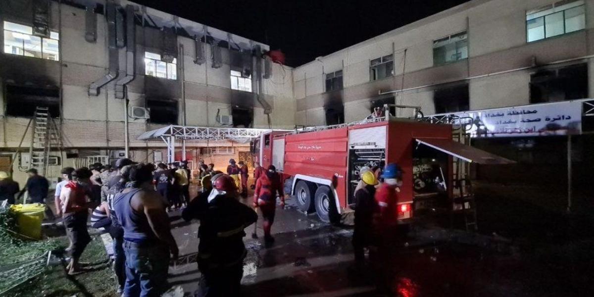 Baghdad hospital fire killed 83