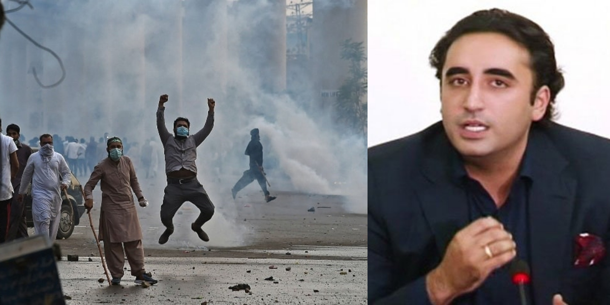 Bilawal Condemns violence by TLP workers