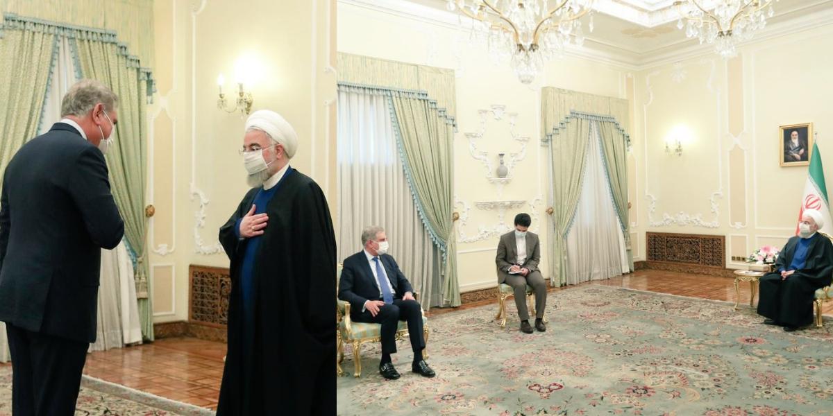 FM Qureshi meets Hassan Rouhani