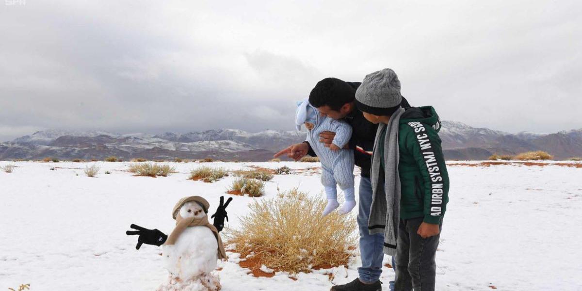 Incredible views after Saudi Arabia receives heavy snowfall