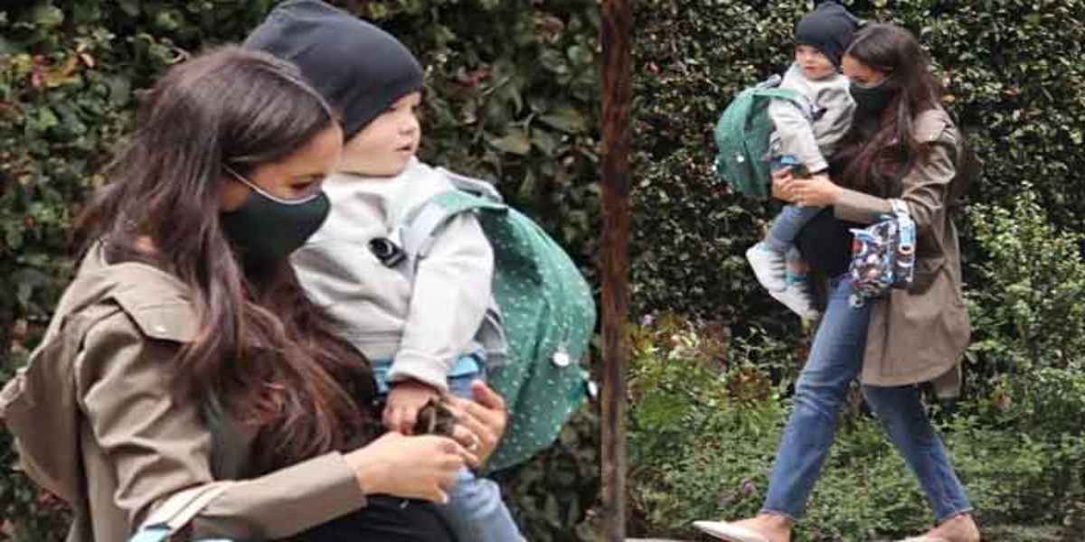 Meghan Markle spotted in casual outfit with son Archie