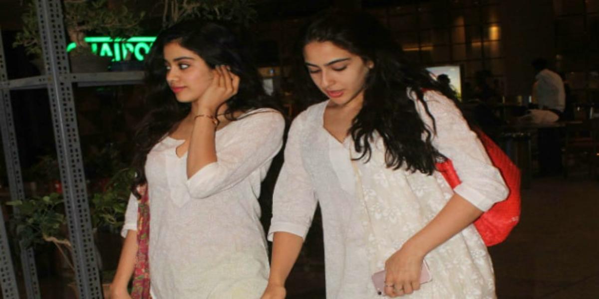 Who is looking more astonishing Sara Ali Khan Or Jhanvi Kapoo?r in White Saree,