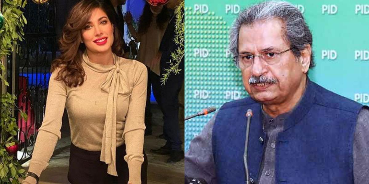 Mehwish Hayat thanks Shafqat Mahmood