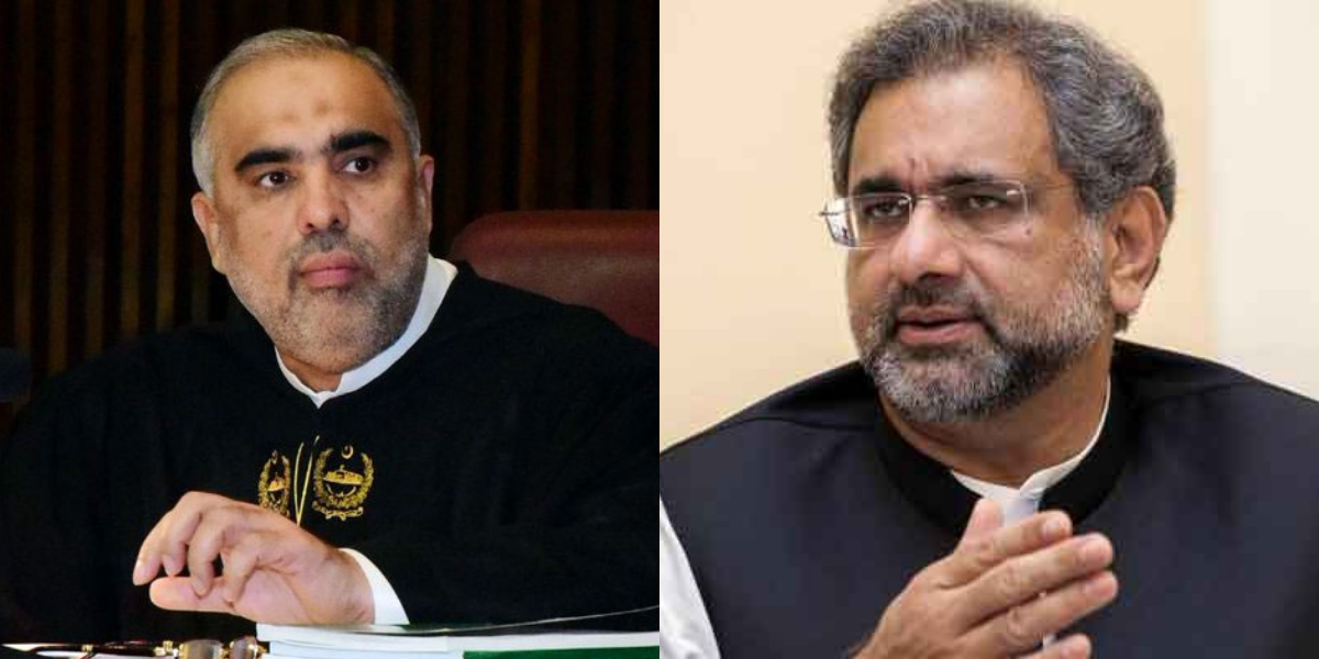 Fiery Argument Between Khaqan Abbasi and Asad Qaiser