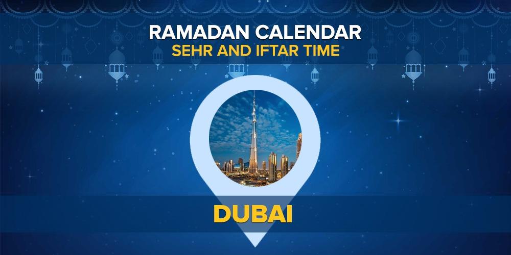 Ramadan Calendar Dubai 2021