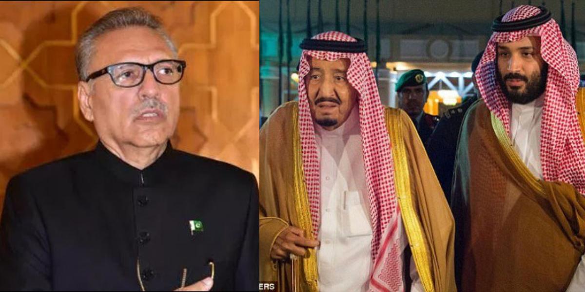 Saudi leaders President Alvi