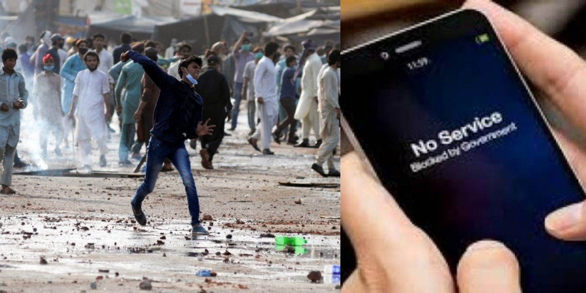 TLP Protests Mobile services suspended in Lahore