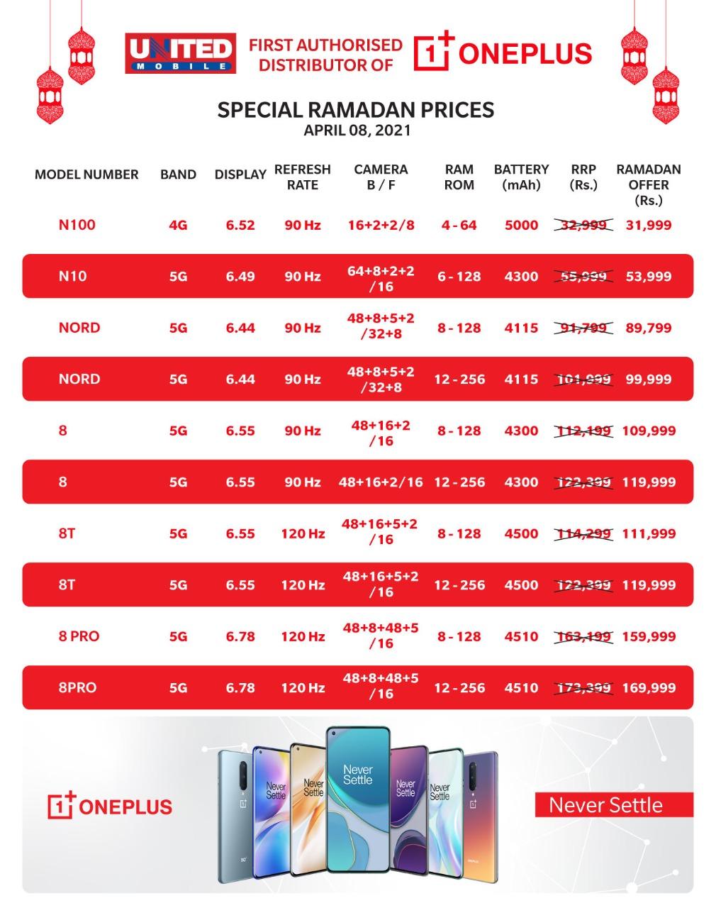 Oneplus Ramazan Prices