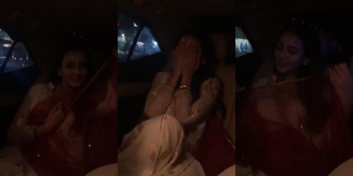 Zarnish Khan Car Dance