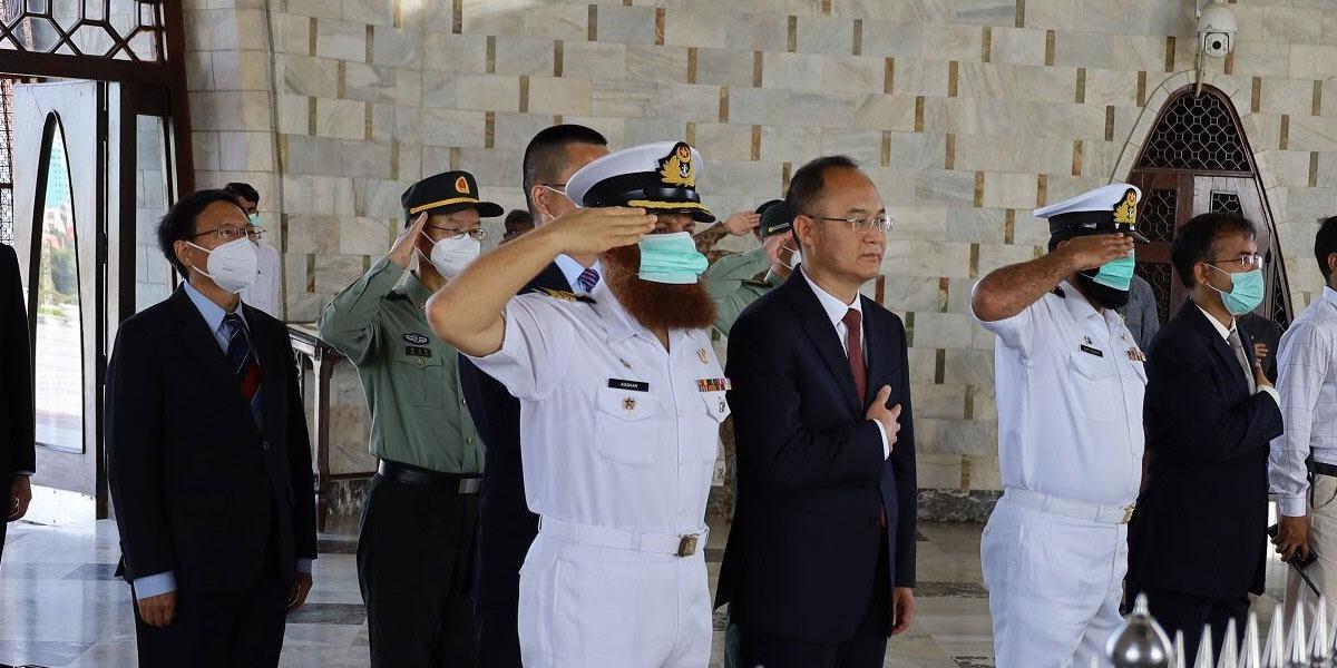 Chinese Ambassador to Pakistan Pays Visit To Mazar-e-Quaid