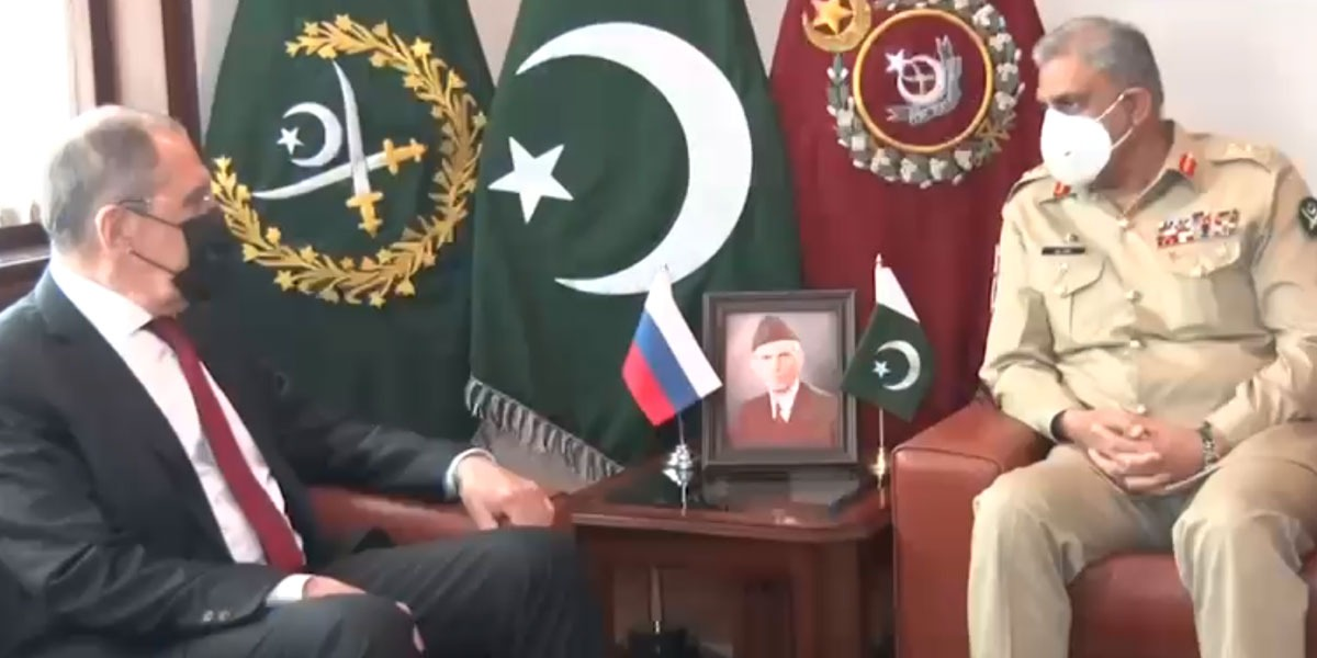 COAS Calls On Foreign Minister of Russia At GHQ