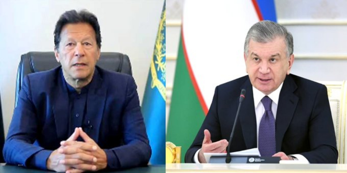 PM Imran With Uzbek Counterpart Hold First Virtual Summit