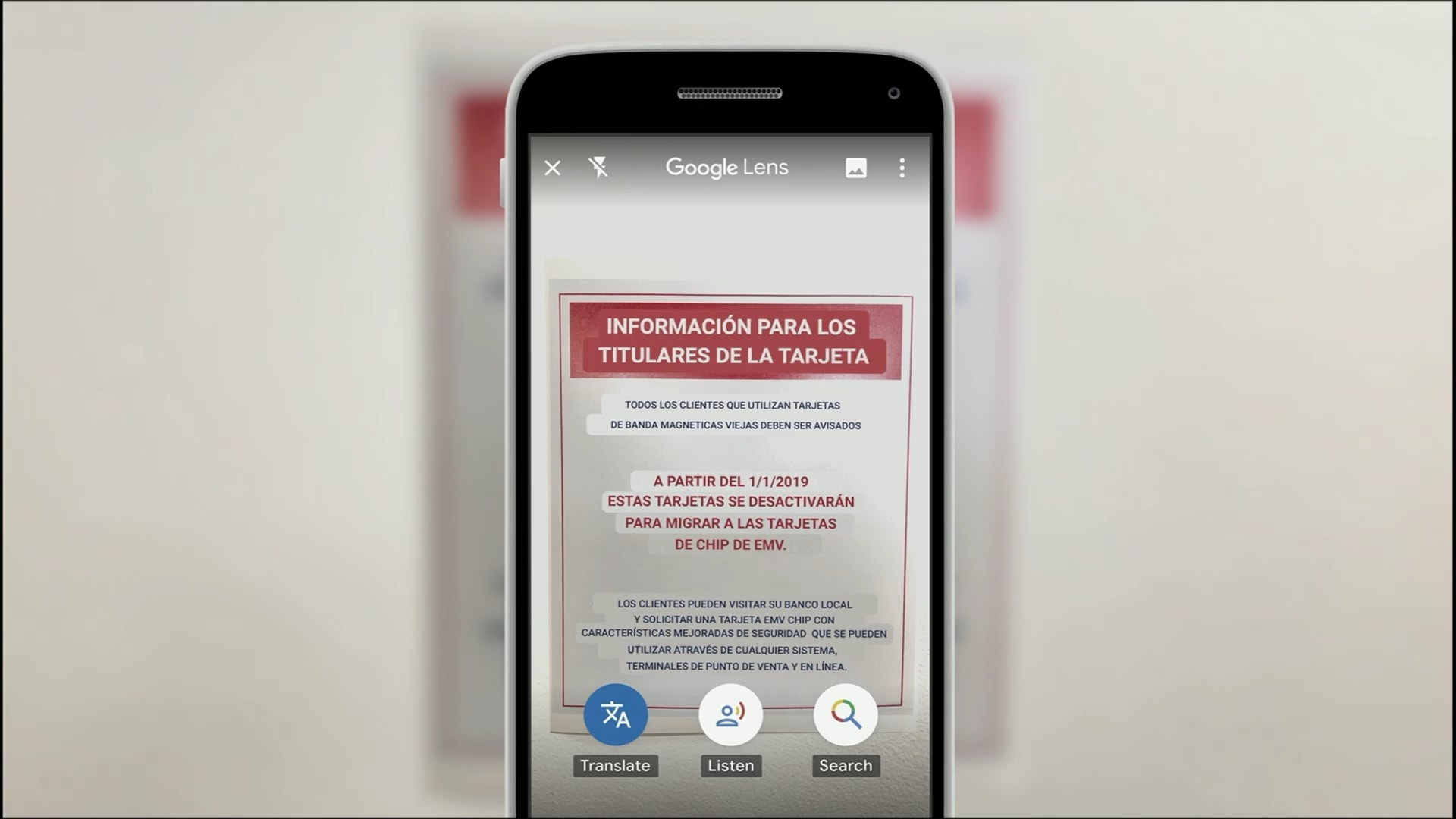 Screenshots are now automatically translated by Google Lens