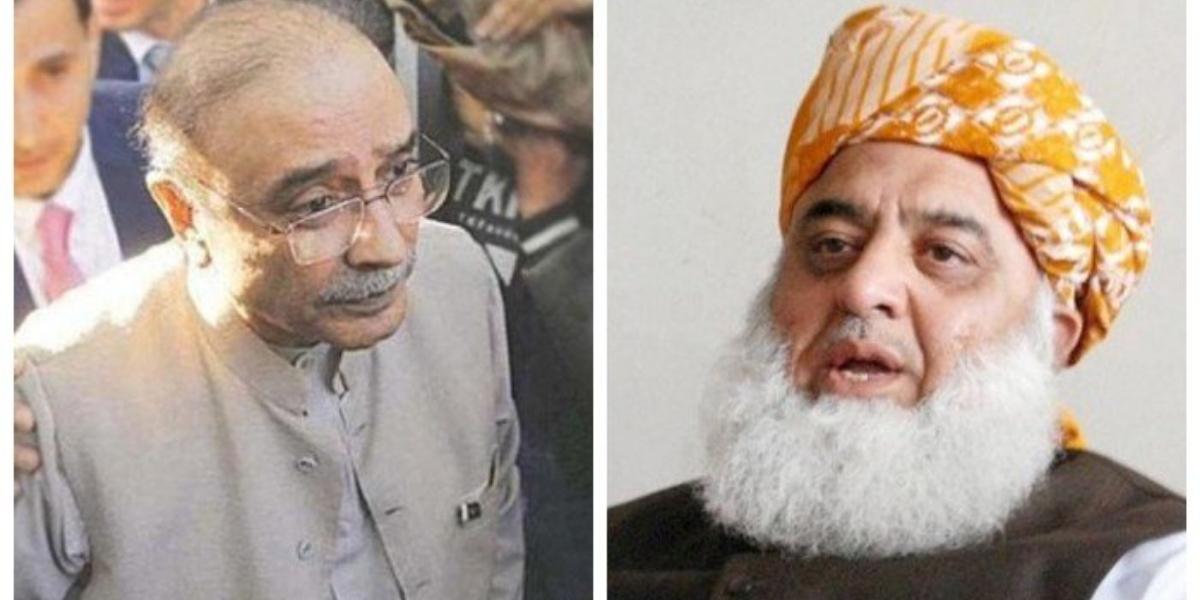 Zardari Calls Maulana Fazlur Rehman