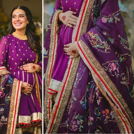 Iqra Aziz's baby shower dress had 100 handcrafted messages