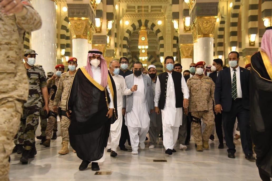 PM Imran at Roza-e-Rasool
